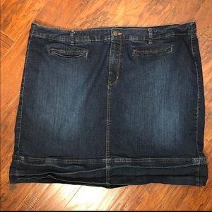 Avenue Denim Skirt Size 26